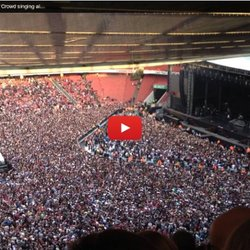 Green Day @ Emirates Stadium - Crowd singing along to Bohemian Rhapsody. 01.06.13