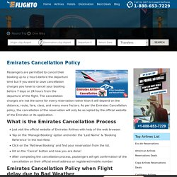 Emirates Cancellation Policy