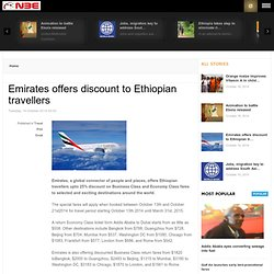 Emirates offers discount to Ethiopian travellers