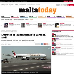 Emirates to launch flights to Bamako, Mali