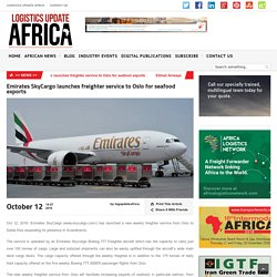 Emirates SkyCargo launches freighter service to Oslo for seafood exports