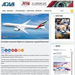 Emirates resumes flights to Sudanese capital Khartoum