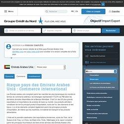 Risque pays des Emirats Arabes Unis : Commerce international