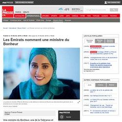 Les Émirats nomment une ministre du Bonheur