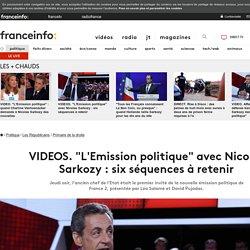 """VIDEOS. """"L'Emission politique"""" avec Nicolas Sarkozy : six séquences à retenir"""