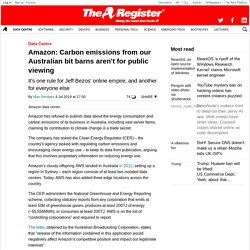Amazon: Carbon emissions from our Australian bit barns aren't for public viewing
