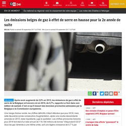 Les émissions belges de gaz à effet de serre en hausse pour la 2e année de suite - La DH