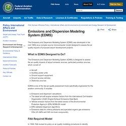 Emissions and Dispersion Modeling System (EDMS)