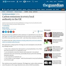 Carbon emissions in every local authority in the UK. See what they are where you live