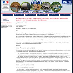 Arrêté du 18/03/02 relatif aux émissions sonores dans l'environnement des matériels destinés à être utilisés à l'extérieur des bâtiments