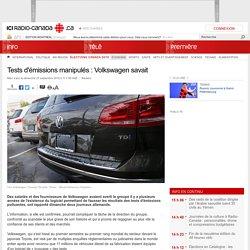 Tests d'émissions manipulés : Volkswagen savait