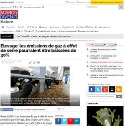 Elevage: les émissions de gaz à effet de serre pourraient être baissées de 30% - 26 septembre 2013