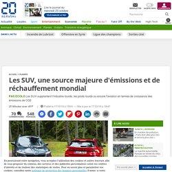 Les SUV, une source majeure d'émissions et de réchauffement mondial