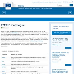 EMJMD Catalogue