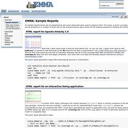 EMMA: Sample Reports