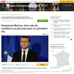 Emmanuel Macron. Une cote de confiance au plus bas pour un président élu