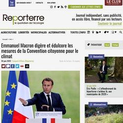 Emmanuel Macron digère et édulcore les mesures de la Convention citoyenne pour le climat