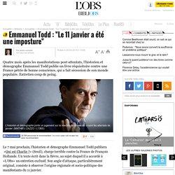 """Emmanuel Todd : """"Le 11 janvier a été une imposture"""""""