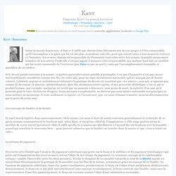 Emmanuel Kant: La morale kantienne