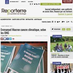 Emmanuel Macron cancre climatique, selon les ONG