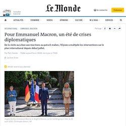 Pour Emmanuel Macron, un été de crises diplomatiques