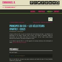 Principes du CSS – Les sélecteurs (Partie1 : CSS2)