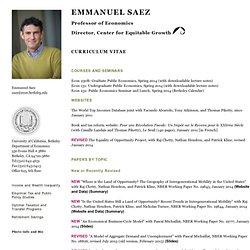 Emmanuel Saez's Home Page