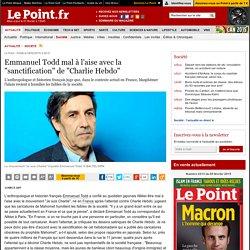 """Emmanuel Todd mal à l'aise avec la """"sanctification"""" de """"Charlie Hebdo"""""""