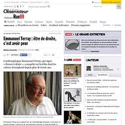 Emmanuel Terray: être de droite, c'est avoir peur