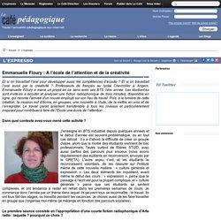 Emmanuelle Floury : A l'école de l'attention et de la créativité