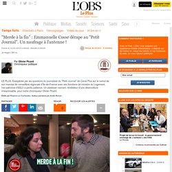 """""""Merde à la fin"""" : Emmanuelle Cosse dérape au """"Petit Journal"""". Un naufrage à l'antenne !"""