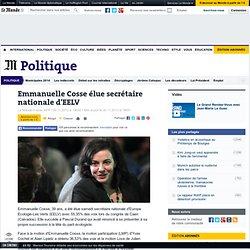Emmanuelle Cosse élue secrétaire nationale d'EELV