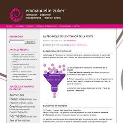 Emmanuelle Zuber » La technique de l'entonnoir de la vente