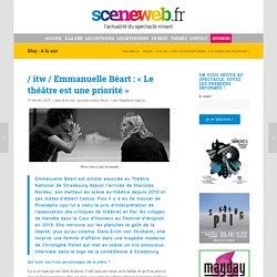 Emmanuelle Béart : « Le théâtre est une priorité »