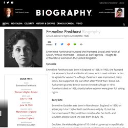 Emmeline Pankhurst - Women's Rights Activist