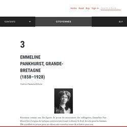 Emmeline Pankhurst, Grande-Bretagne (1858–1928)