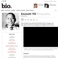 Emmitt Till (spark civil rights MS) biography