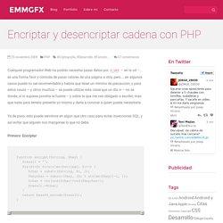 Encriptar y desencriptar cadena con PHP