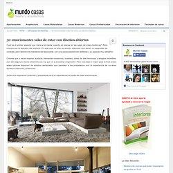 30 emocionantes salas de estar con diseños abiertos