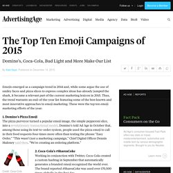 The Top Ten Emoji Campaigns of 2015