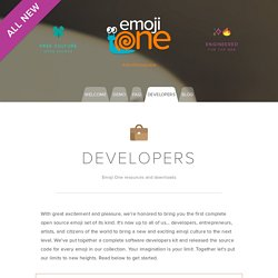 Emoji One - Developer Information