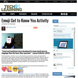 Emoji Get to Know You Activity
