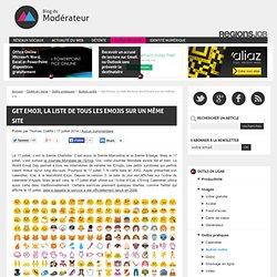 Get Emoji, la liste de tous les Emojis sur un même site