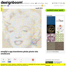 emojify's app transforms photo pixels into emoticons