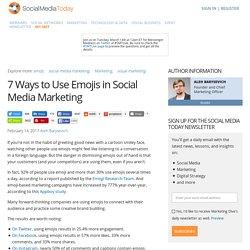7 Ways to Use Emojis in Social Media Marketing