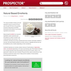 Natural Based Emollients - Prospector Knowledge Center