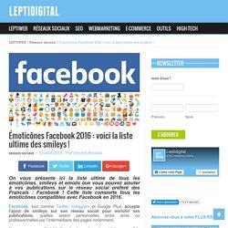 Émoticônes, Smileys et Emojis Facebook : voici la liste ultime !