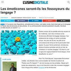 Les émoticones seront-ils les fossoyeurs du langage ?