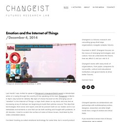 Emotion and the Internet of Things — Changeist
