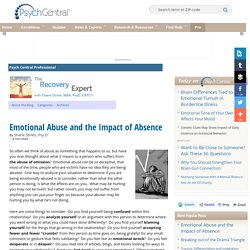 Emotional Abuse and the Impact of Absence